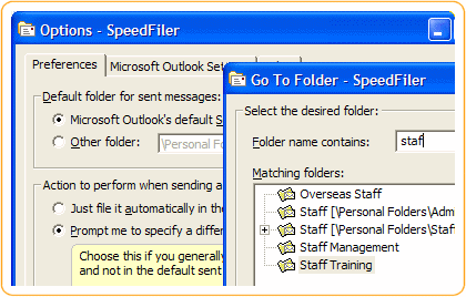 SpeedFiler for Outlook Screen shot